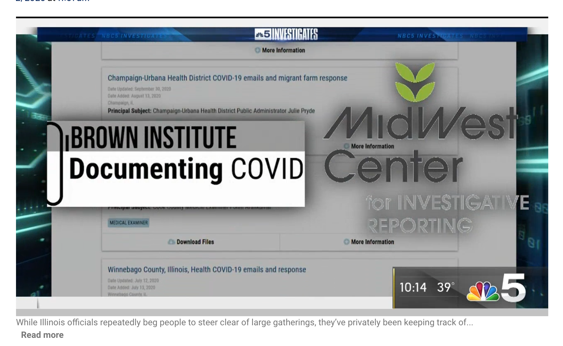 Illinois Keeps a Secret List of Thousands of Coronavirus Outbreaks. Now NBC 5 Has It